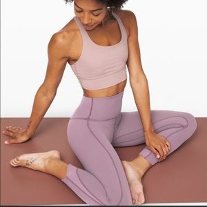 """Lululemon Align 25"""" Pant Petal Frosted Mulberry 10"""